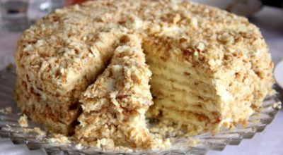 Торт «Наполеон» с вкусным кремом