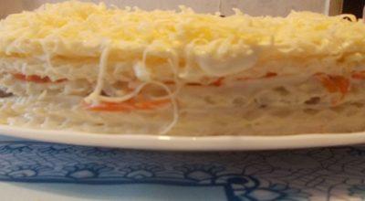 Селедочный торт затмит на любом застолье оливье и шубу!