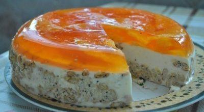 Торт «Апельсинка» без выпечки. Получается всегда идеально!
