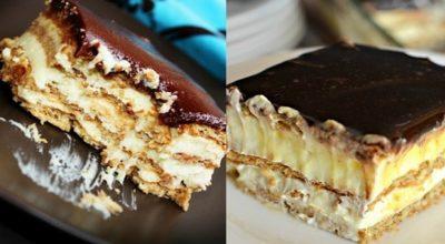 Вкуснющий торт-эклер без выпечки