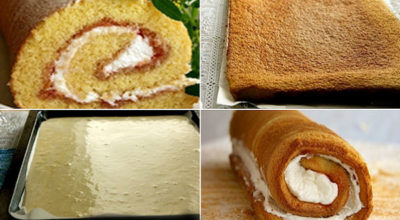 Рецепт очень удачного бисквитного рулета — пышный, мягкий, легко сворачивается!