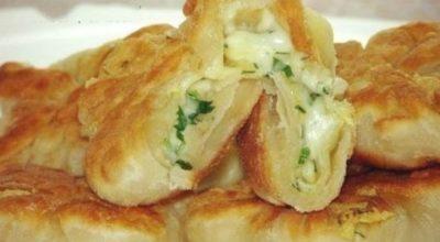 Кефирные конвертики с сыром и зеленью