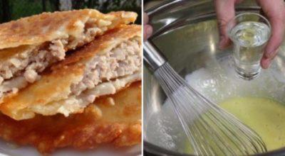 Когда готовлю чебуреки, замешиваю тесто только так! Корочка всегда хрустящая, а начинка невероятно сочная