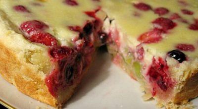 Любимый ягодный пирог из заливного теста!