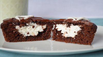 Очень шоколадные кексы с творожным центром. Тают во рту!