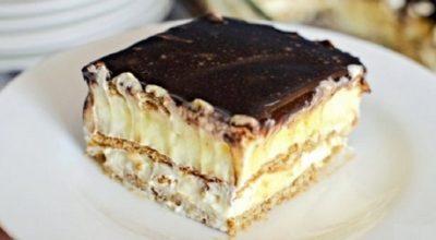 Торт-эклер из печенья