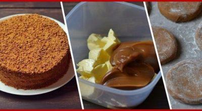 Торт «Рыжик». Часто пеку для гостей или просто к чаю!