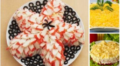 3 самых необычных и вкусных салата из крабовых палочек