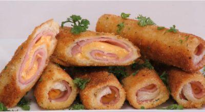 Вкусный и сытный завтрак на скорую руку: трубочки из хлеба