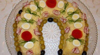 Красивый и безумно вкусный Новогодний салат «Подкова»