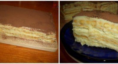 Торт «А-ля тирамису» — намного вкуснее