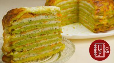Обалденный торт из кабачков с фаршем!