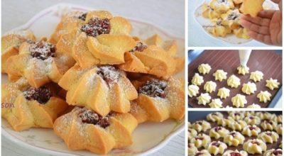 Вкусное, рассыпчатое и нежное печенье «Курабье».  Готовится просто и быстро!