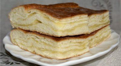 Слоёный лимонный пирог