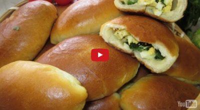 Пирожки с яйцом и зелёным лучком