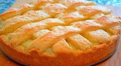 Бесподобный ароматный и нежный яблочный пирог с заварным кремом