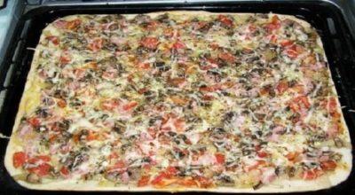 Готовим пышную пиццу за 30 минут. Самое вкусное тесто, которое я пробовала!Рецепт оправдал ожидания!