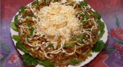 Изумительный салат «Чудо в перьях»: эффектный и очень вкусный