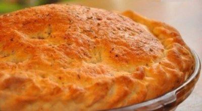 Пирог с мясом «Быстро и легче не бывает». Тесто за 10 минут!