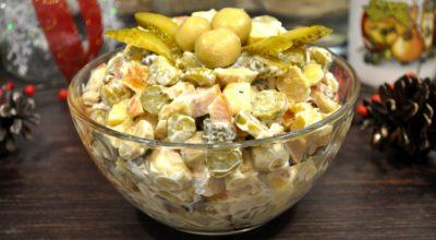 Новогодний салат за 5 минут. Его всегда съедают первым