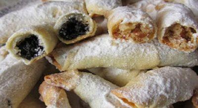 Обалденные рогалики — тонкое, хрустящее тесто и много сладкой вкусной начинки