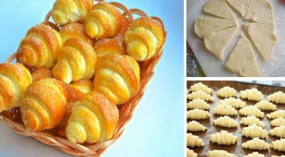 Рецепт дня — сладкие рогалики из обалденно вкусного теста!