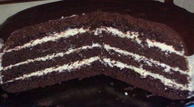 Торт «Шоколад на кипятке» готовится мега быстро, в духовом шкафу растет прямо на глазах