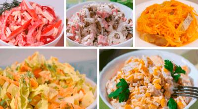 5 самых легких и вкусных салатов на праздничный стол