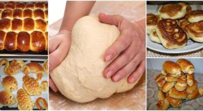 Дрожжевое тесто, как раз для лентяев: 15 минут — и готово