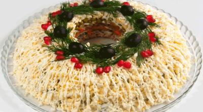 Купеческий праздничный мясной салат