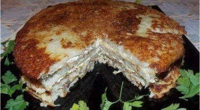 Пирог — драник. Оригинальное и вкусное блюдо