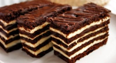 Никого не оставит равнодушным. Торт «Спартак»: шоколадный медовик со сметанным кремом