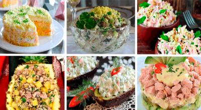 6 рецептов праздничных салатов