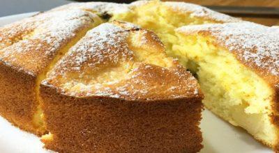 Аппетитный, очень вкусный и простой в приготовлении бисквитный пирог