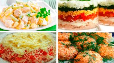 Топ — 4 рецепта вкусных и быстрых салатов