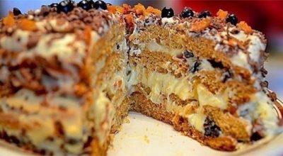 Готовить этот диетический торт — одно удовольствие. «Трухлявый пень»