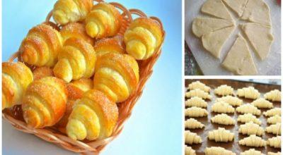 Лучший рецепт дня — сладкие рогалики из обалденно вкусного теста