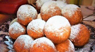 Аппетитные хрустящие творожные пончики