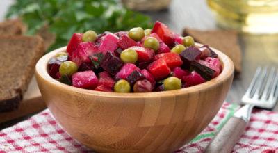 Постные салаты со свеклой: полезно и вкусно