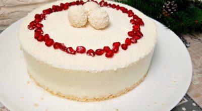 Потрясающий нежный торт «Рафаэлло» без духовки за 5 минут
