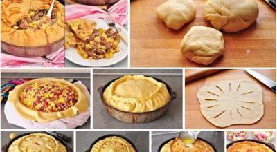 Татарский пирог с картофелем и мясом — «Зур Бэлиш»