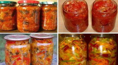14 овощных салатов на зиму