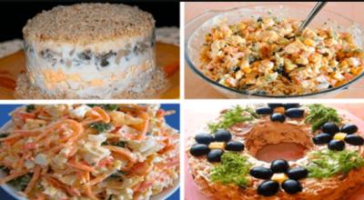 4 рецепта очень аппетитных салатов для праздника