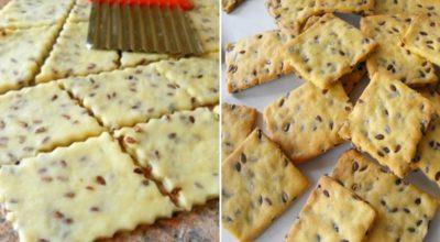Галетное печенье с семенами льна: диетическое, вкусное, хрустящее