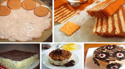 Легкие торты из печенья без выпечки!