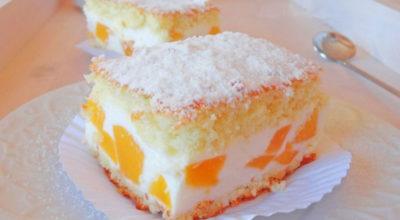 Нежный фруктовый тортик с воздушным кремом