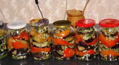 Очень вкусные баклажаны с болгарским перцем, чесночком и зеленью укропа