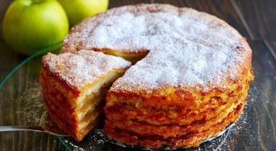 Простейший яблочный пирог «Три стакана»