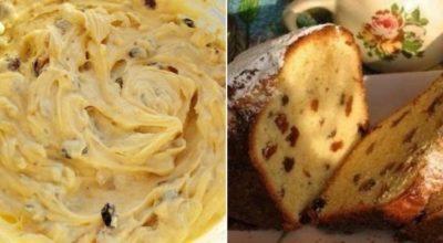 Рецепт приготовления вкусного, пышного пирога с изюмом на кефире