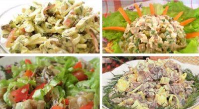 Самые лучшие грибные салатики на любой вкус. Подборка из 10 рецептов